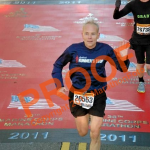 Crossing Marine Corps marathon carpet