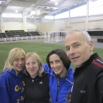CYO indoor track meet coaches at St. Anthony's