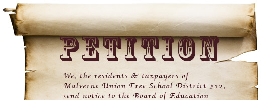 petition Malverne BOE