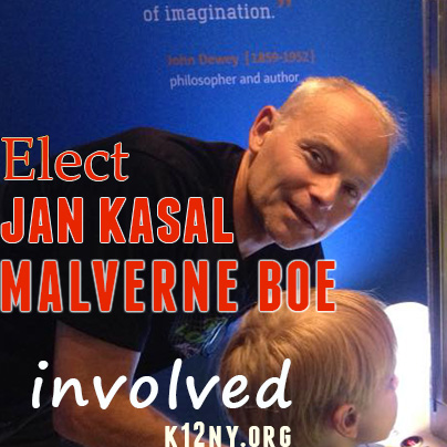 jan kasal for Malverne board of education